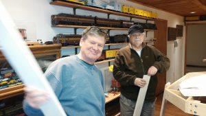 Jim and John hard at work.